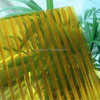 100% virgin material transparent Polycarbonate Hollow sheet UV coating for canopy