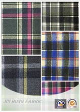 2015-2016 Hot Sale woven/knitted grid plaid color wool/polyester/acrylic/nylon blend fabric for fashion clothing