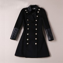 2015 winter new design luxury woolen coats / long overcoats for adults women ladies OEM service