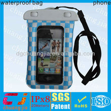 Fashion low price ipx8 tpu smart phone waterproof bag