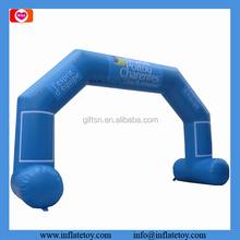 6X4 Meters outdoor event inflatable entrance arch light Blue balloon arch for sale