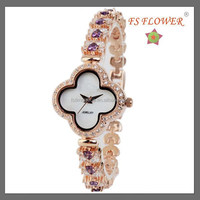 FS FLOWER - Brass Material Set Zircon Stone Watch Fashion Jewelry Wholesale