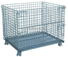 foldable steel storage wire mesh cage with PVC coated