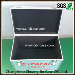 Portable ABS aluminum instrument case with small outlets fabric
