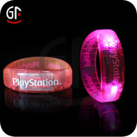New Products High Quality Club Night Blue Color Led Flashing Light Bracelet