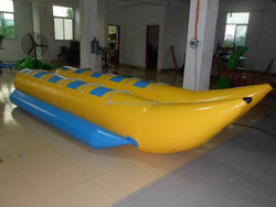 2015 hot PVC inflatable boat,inflatable water games flyfish banana boat
