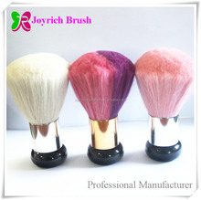 Golden ferrule plastic handle goat hair cleaning nail dust brushes
