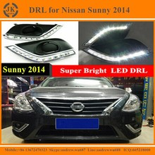 Factory Wholesale LED Daytime Running Light for Nissan Sunny Super Quality Waterproof LED Daylight for Nissan Sunny 2014