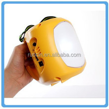 Portable LED solar lantern for home and outdoor or camping use with lights mobile phone charger