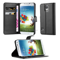 Lichee Pattern Flip Leather Cellphone Case Cover For Samsung Galaxy S5