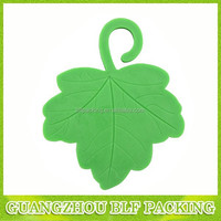 (BLF-AR082)Leaf shape green color printing hemp air freshener paper