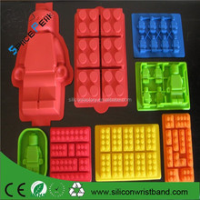 100% FDA Lego minifigures Silicone funny silicone cake mold of cartoon characters, for cake decorating