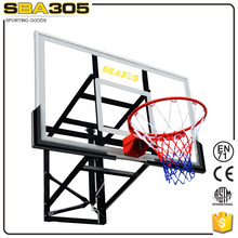 wall mounted high quality basketball pole and rim