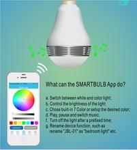 High Quality Energy Saving LED E27 Alarm Music Playing Wireless Bluetooth Smart Bulb