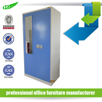 Bedroom Furniture Gym Or School Lockable Personal Vertical Metal Cheap Cloth Wardrobe / Locker Cabinet / Clothes Cabinet