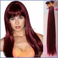 2015 New Fashion Burgundy Color I Tip Stick Hair Extension Vietnamese Hair I tip Hair