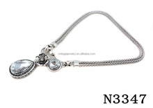 N3347 Charming Shining Crystal Pendant Necklace