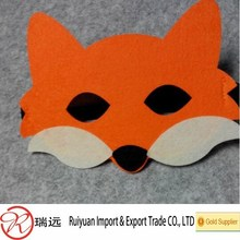 2015 Spring Carnival Dress up Party Accessory Felt fox Mask with tail