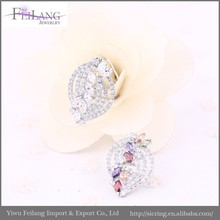 Latest made in China zircon dangling earrings,Customized color available