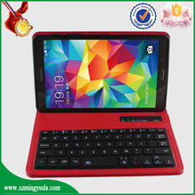 China Factory flp 8 inch bluetooth keyboard PU leather tablet case for samsung T700