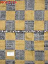 polyester felt newspaper printed fabric