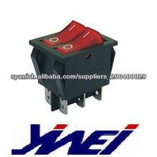 El negro interruptor de alto grado de la forma del cuerpo de la autentificación del CE de 2 pies encrespa hacia arriba el interr