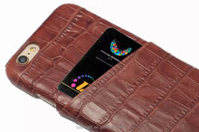 Costomer Made Luxury leather wallet case For iphone 6 6Plus & 6S 6S plus Phone case Crocodile Pattern Genuine Leather Cover