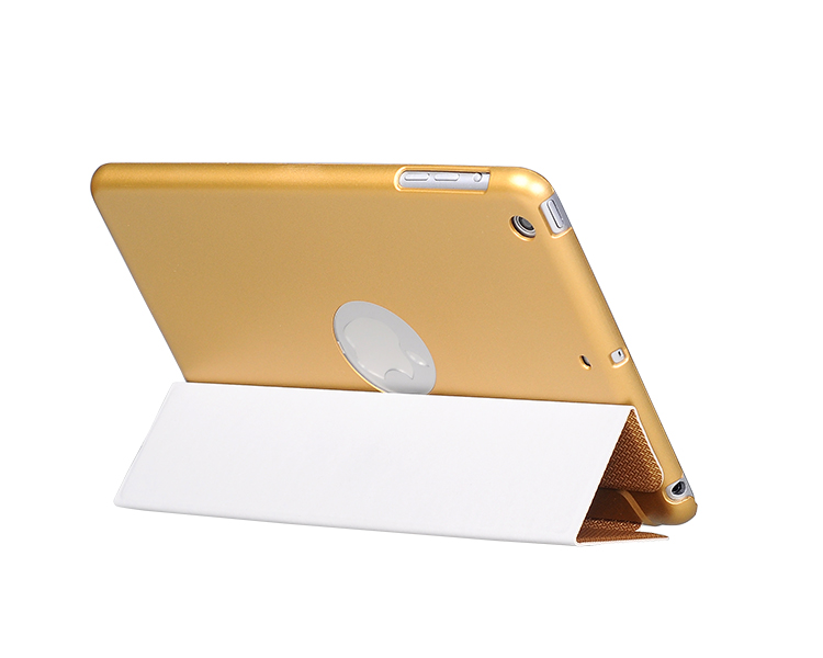 BOHOBO For Ipad mini 2,gridding grain rubber finishing Flip PU leather PC case