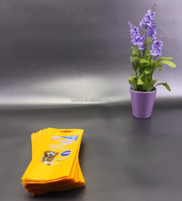 die cut handle personalised opp and pe bag wholesale /pet dog finger wipe poly bags online/ custom plastic bags for tissue pack