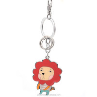 HOMEQI helicopter keychain mini pocket lion silver plated key chain meta HQKC290432