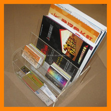 High-class fashion clear plastic acrylic open book holder
