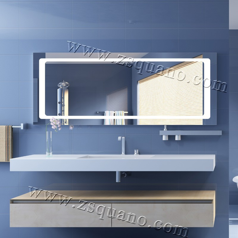 Innovative Hotel Bathroom Mirrors Mirror With Tile Border Bathroom Mirror Tiles