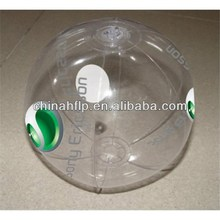 Folded high quality inflatable earth beach ball pvc globe