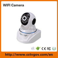 Low price home wireless ip security camera with memory card alarm audio
