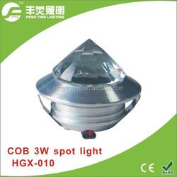 LED spot mini cabinet light 3w, cob spot light silver frame