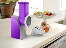 Electric Vegetable Slicer; color choices; special chute mouth, mandolin slicer with 8 accessories;Plastic Material slicer