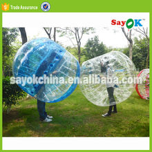 glass the amazing wubble soccer bubble ball walk water