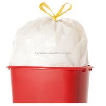 factory promotional garbage /trash bag with drawstring