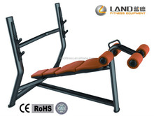 Land LD-7030 Olympic Decline Bench/Silver Fitness Equipment/Gym Equipment