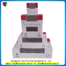 Customized design printed mini cupcake box for cupcake