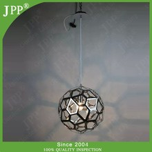 big ball stainless and copper pendant lamp