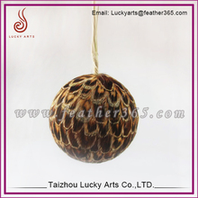 Christmas tree assorted hanging feather balls