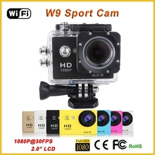 Full HD Waterproof Mini Wifi Sports Camera sj4000 Extreme Sports Action Video Camera W9