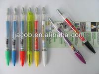 promotional banner pen/info pen/flyer pen 1000pcs brand custom logo with free shipping