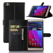 Wallet Flip Leather Case For Huawei P8 max Lichee Grain Card Solt Stand Filp Case Phone Cover