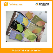 Onzing good quality mini shaped sticky notes & sticky notes & message pad