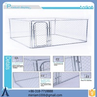 Hot sale new design large outdoor powder coating galvanized dog kennel/pet house/dog cage/run/carrier