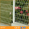 Temporary decorative Garden Welded Curved Fence/Bending Triangular Wire Mesh Fence With ISO Certificaiton