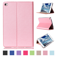 New arrival folding stand leather skin smart cover for ipad mini 4 case with sleep wake function
