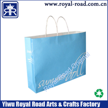 Recycled famous brand paper bag Cheap Christmas gift art paper bags with handles